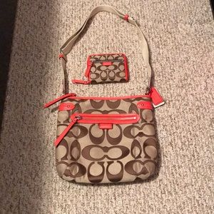 Coach crossbody with wallet